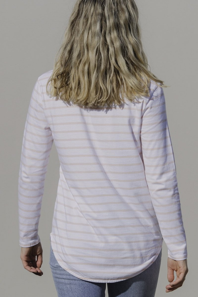 Joop & Gypsy Amanda Stripe Top - Pink Stripe Back