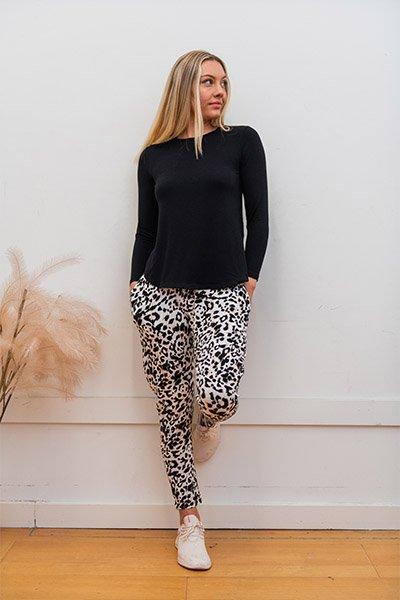 Ryder Pants - Leopard Print Australian Made